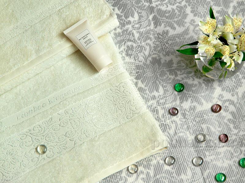 Махровое полотенце TAC Bamboo Elegance кремовое