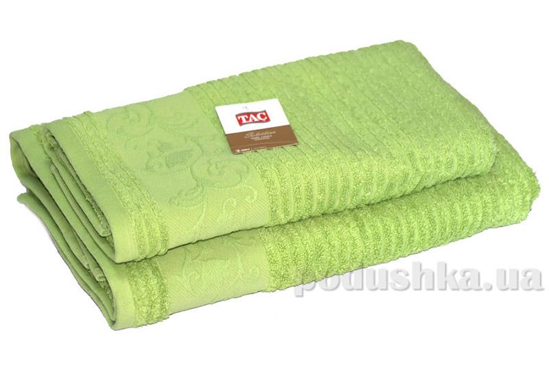Махровое полотенце TAC Calvaro фисташковое