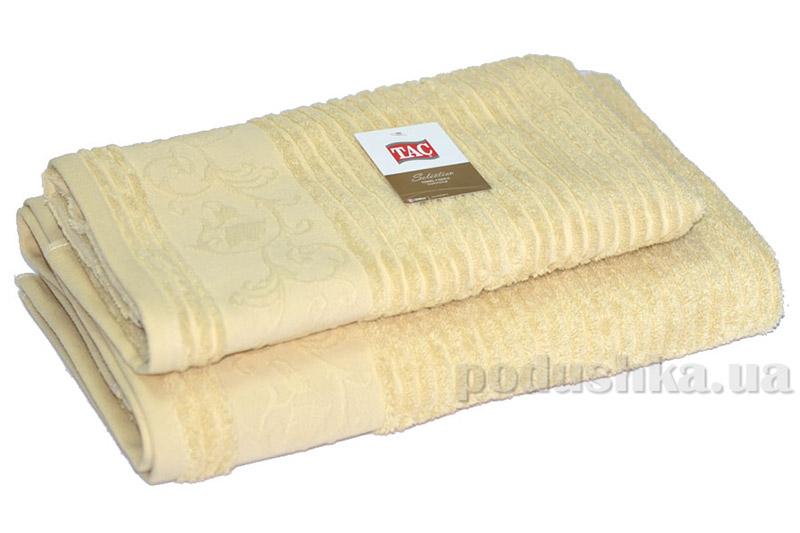 Махровое полотенце TAC Calvaro кремовое