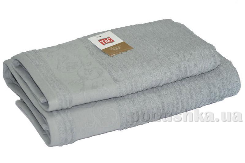 Махровое полотенце TAC Calvaro серое