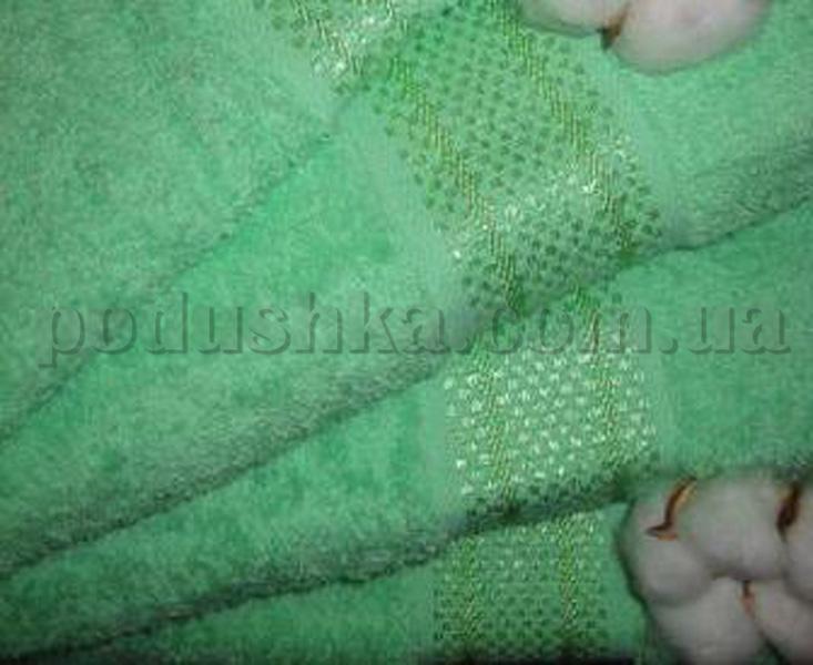 Махровое полотенце нежно-зеленое