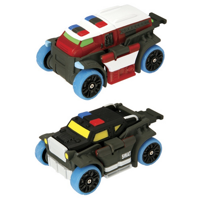 Машинка-трансформер Flip force 05108 Пожарная / Полиция