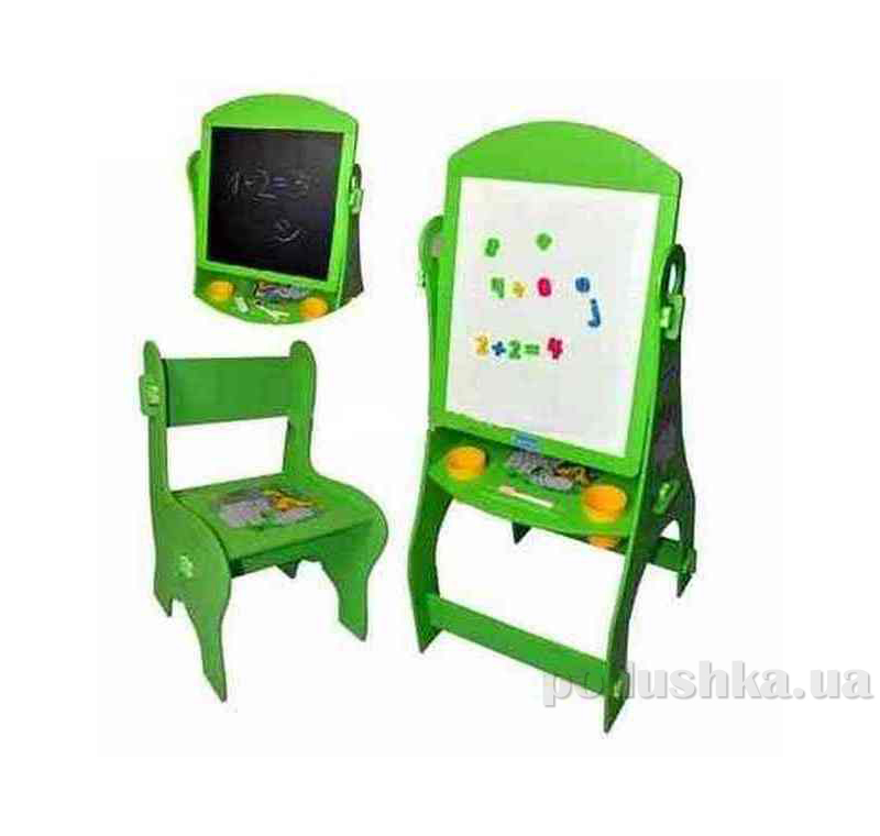 Мольберт со стульчиком Bambi (Metr+) MQ0805 Зеленый 35343