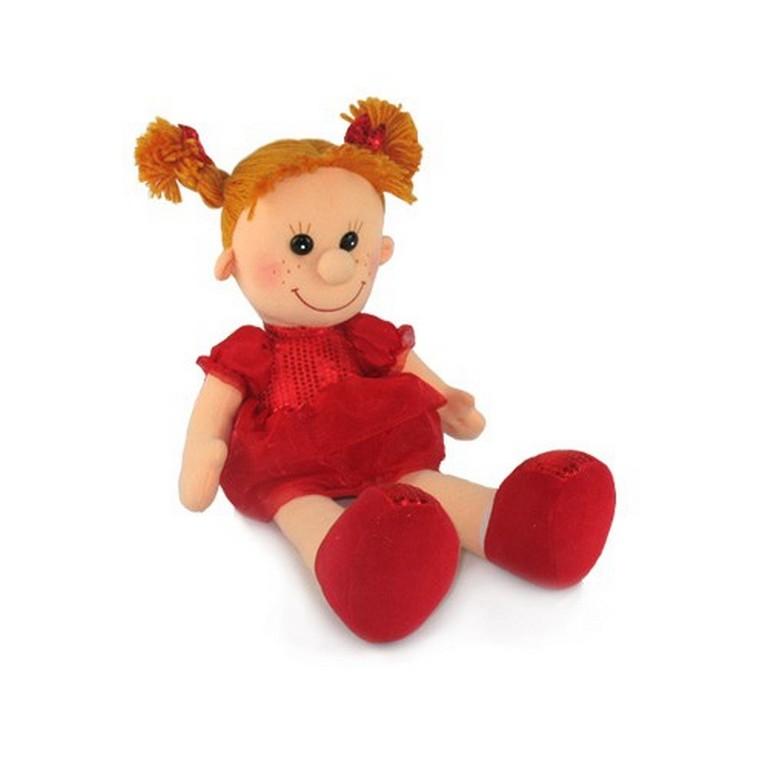 Мягкая игрушка Lava Кукла Майя в красном платье LA8575F