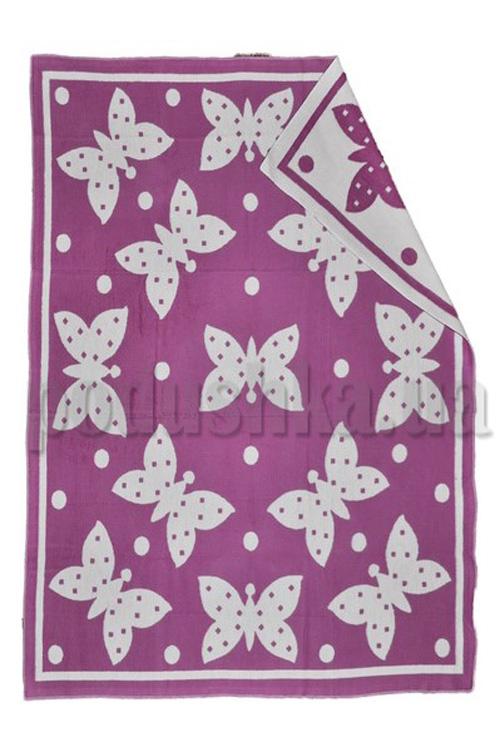 Одеяло детское WOT Бабочки фуксия