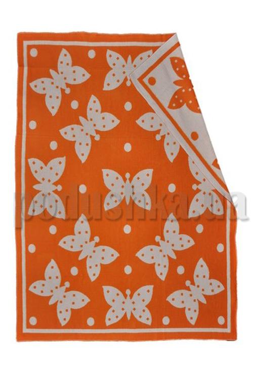 Одеяло детское WOT Бабочки оранжевый