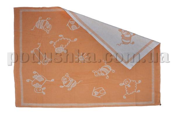 Одеяло детское WOT Хоровод персиковое