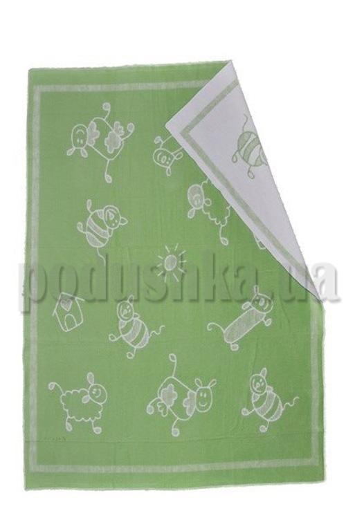 Одеяло детское WOT Хоровод салатовый