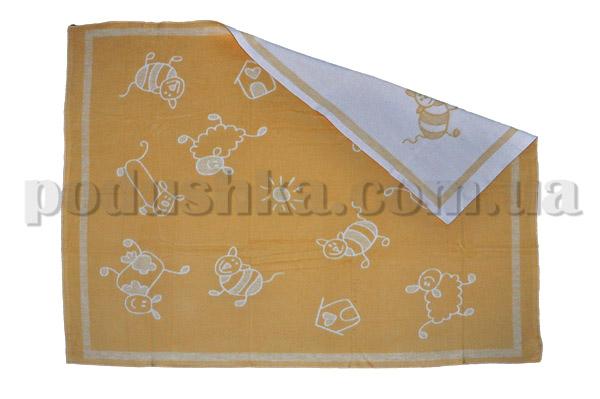 Одеяло детское WOT Хоровод желтое