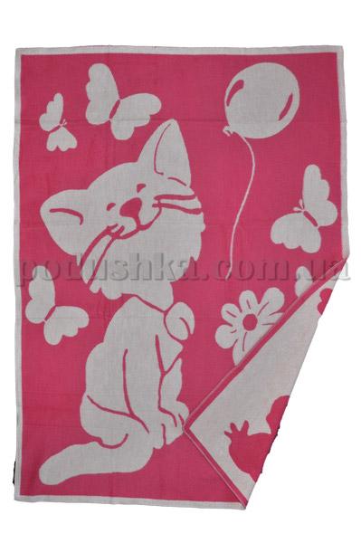 Одеяло детское WOT Кошечка ярко-розовое