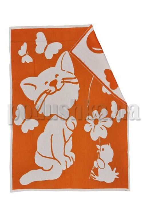 Одеяло детское WOT Кошечка оранжевый
