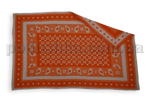 Одеяло детское WOT Птицы оранжевое