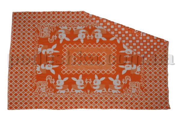 Одеяло детское WOT Зайцы оранжевое