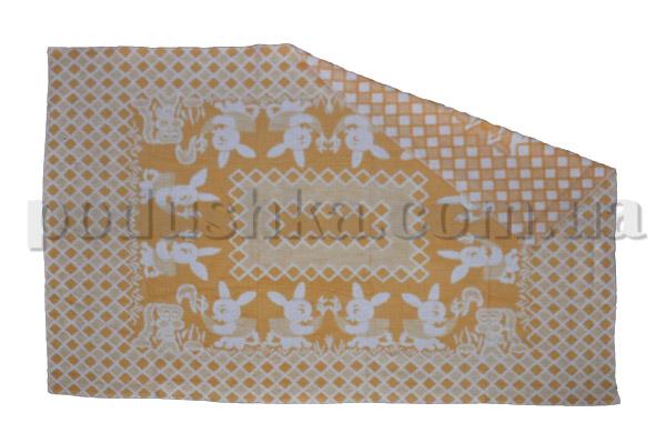 Одеяло детское WOT Зайцы желтое