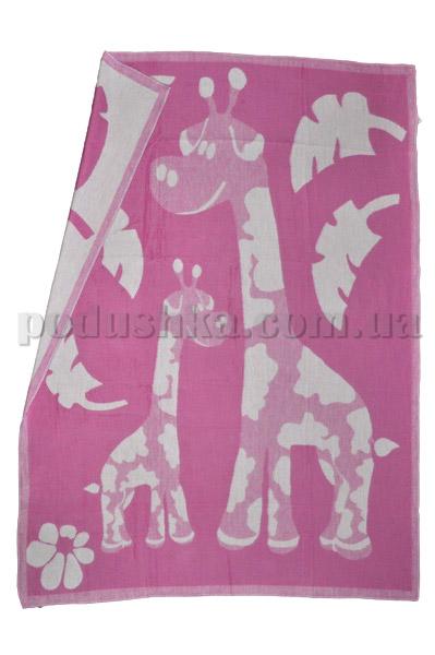 Одеяло детское WOT Жирафы сиреневое