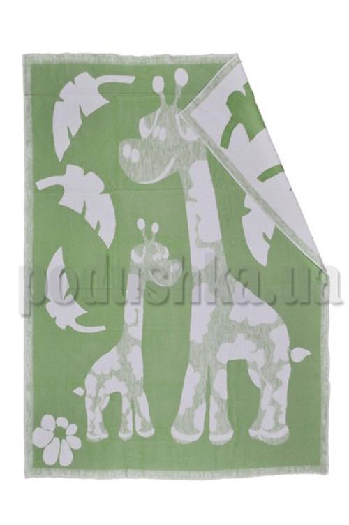 Одеяло детское WOT Жирафики салатовый