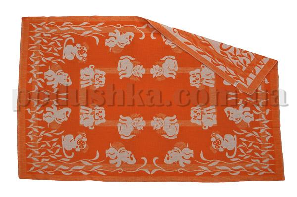 Одеяло детское WOT Зверята оранжевое