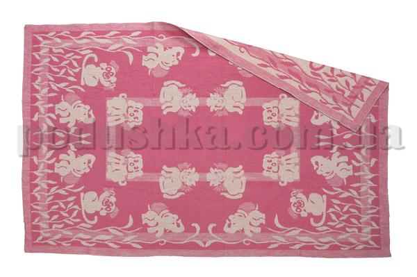Одеяло детское WOT Зверята розовое