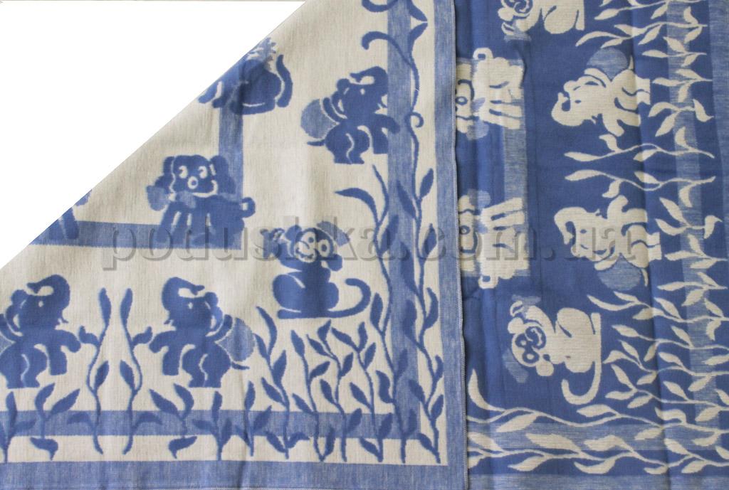 Одеяло детское WOT Зверята синее