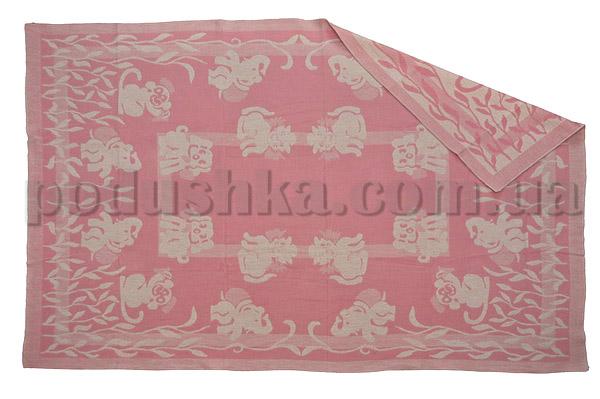Одеяло детское WOT Зверята светло-розовое