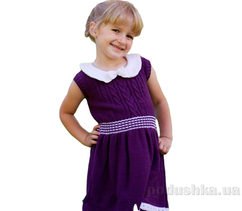 Платье-сарафан для девочек Лютик ПЛ225 полушерсть