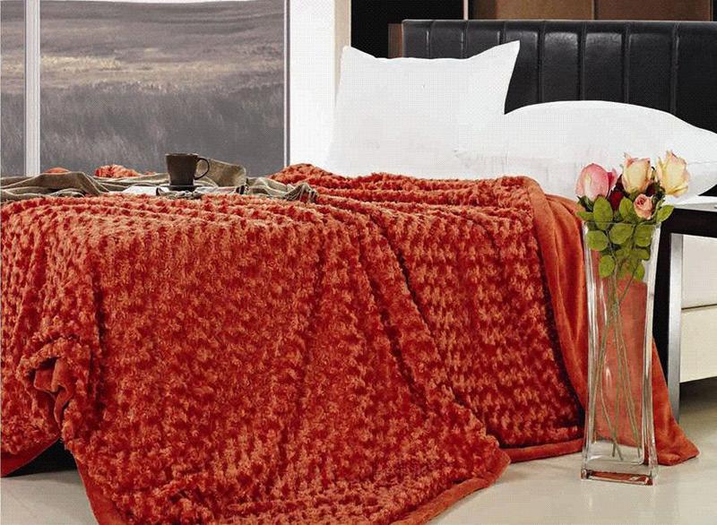 Плед N-Soft Розочка Le Vele 220х240 см цвет - черный Le Vele