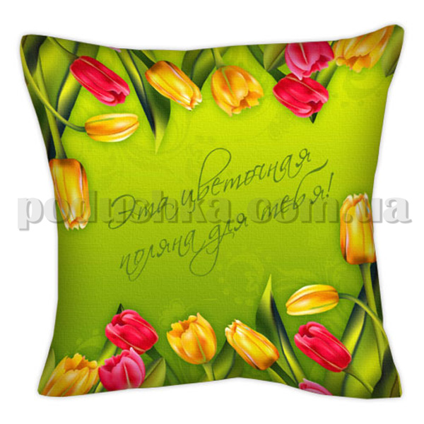 Подушка Цветочная поляна