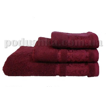 Полотенце махровое Home line Бамбук бордовое