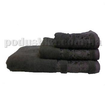 Полотенце махровое Home line Бамбук коричневое 50х90 см  Home line