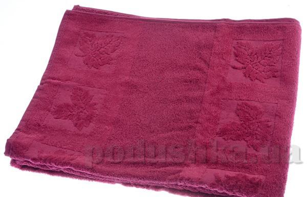 Полотенце махровое Maisonette Ceren бордо