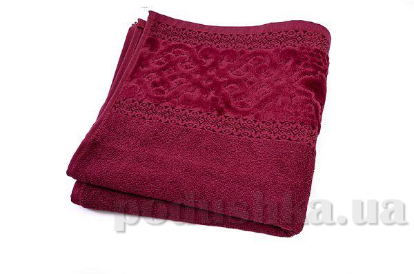 Полотенце махровое Maisonette Meltem бордо