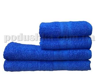 Полотенце махровое Пакистан тёмно-голубое