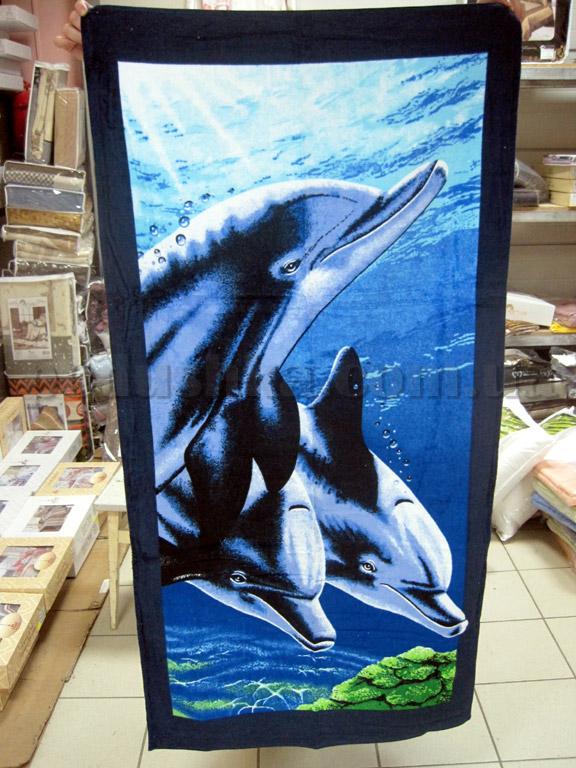 Полотенце пляжное Дельфин