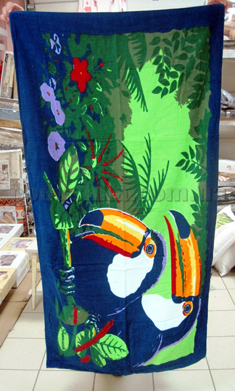 Полотенце пляжное Птицы туканы