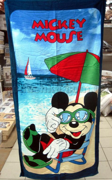 Полотенце пляжное детское Микки Маус