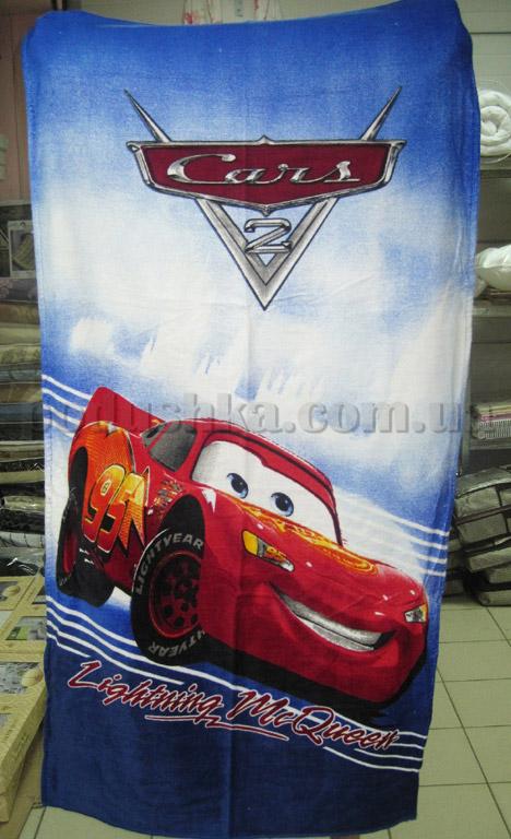 Полотенце пляжное детское Машинка