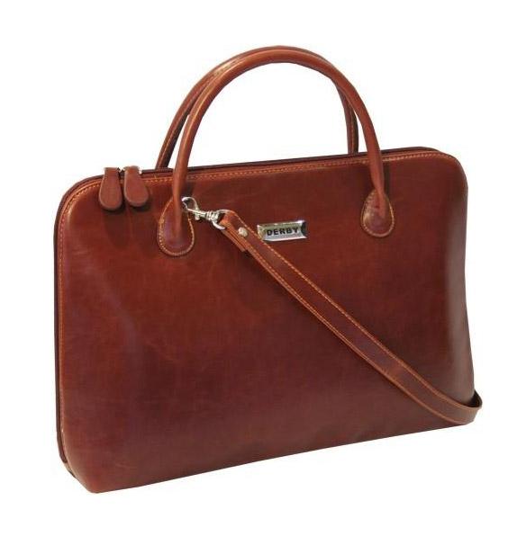 Портфель для женщины Derby 0678116 цвета коньяк