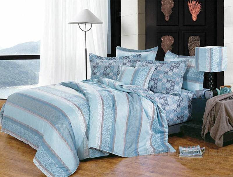 Постельное белье Home line Карина голубой