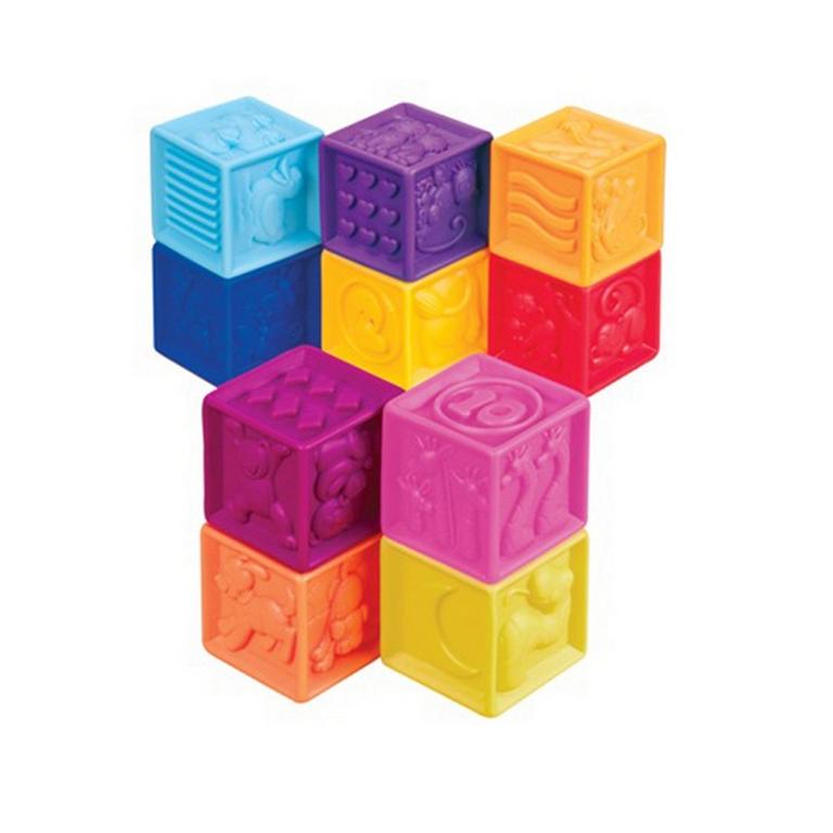 Развивающие силиконовые кубики Battat BX1002Z Посчитай-ка