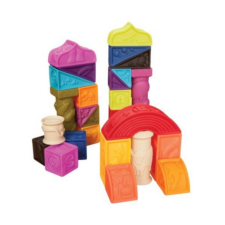 Развивающие силиконовые кубики Battat BX1003N Построй-ка
