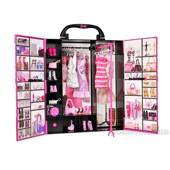 Шкаф-чемодан для одежды Модница Barbie Х5357