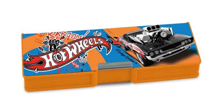Школьный пенал Kite Hot Wheels HW12-630K пластиковый