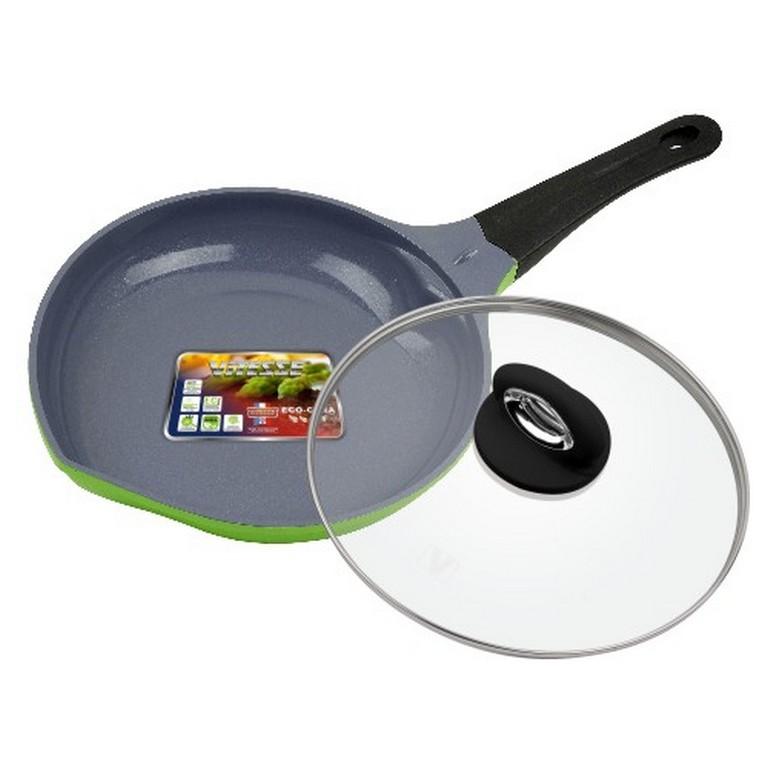 Сковорода алюминиевая с крышкой Vitesse Peach VS-2529