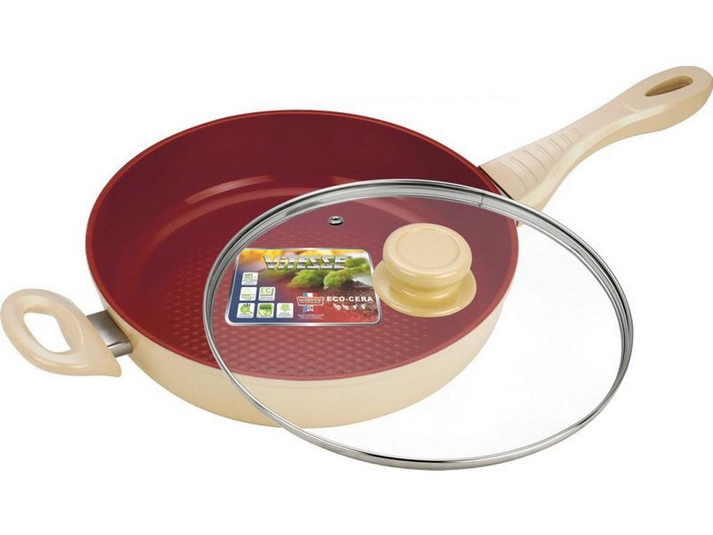 Сковорода алюминиевая с крышкой Vitesse VS-2260