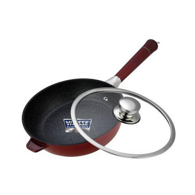 Сковорода алюминиевая с крышкой Vitesse VS-2267