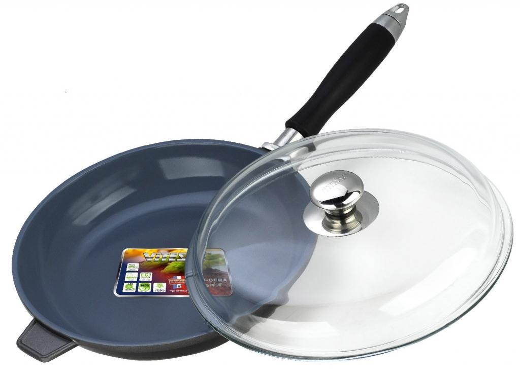 Сковорода алюминиевая с крышкой Vitesse VS-2271