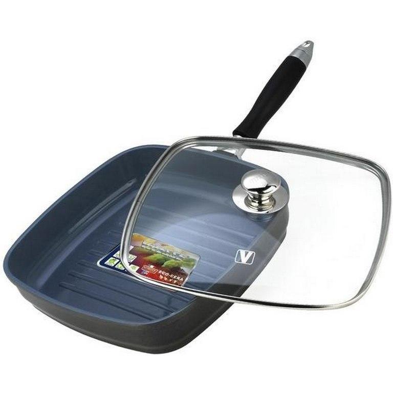 Сковорода-гриль алюминиевая с крышкой Vitesse VS-2274