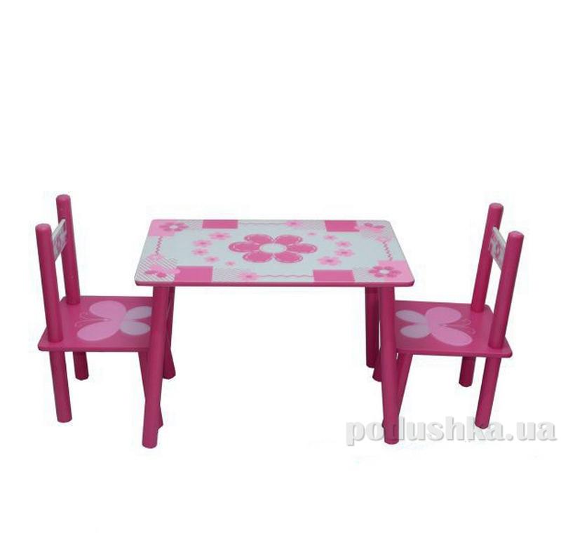 Столик Bambi (Metr+) M 0730 62138 бело-розовый