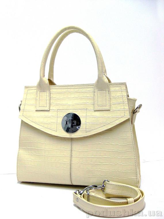 Сумка из натуральной кожи Artis Bags 751 кремовая