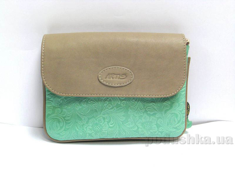 Сумка-клатч из натуральной кожи Artis Bags 730 мятная